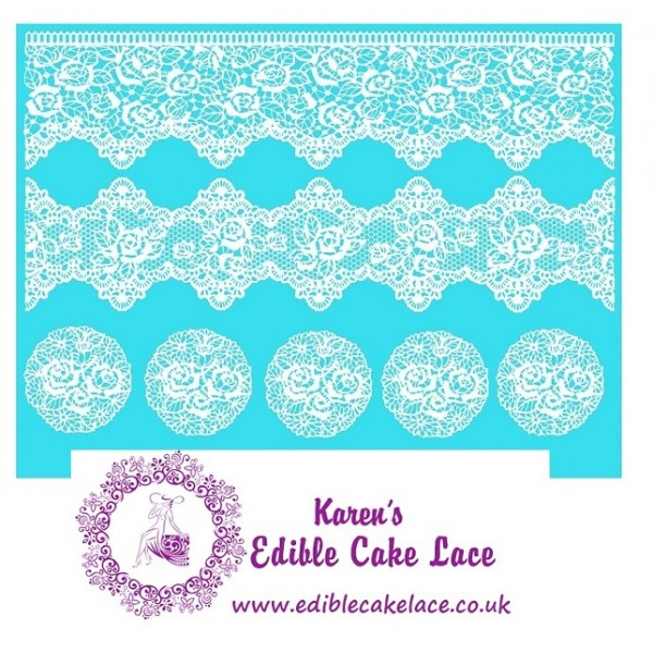 Cake Lace Mat For Cake Decoration Victorian Rose