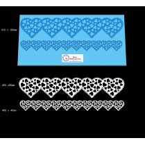 Ribbon Cake Lace Mat For Cake Decoration -  Love Heart Cake Lace