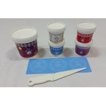 Cake Lace Starter Kit 7( Cake Lace Mix or Premix + Spreading Knife + Cake Lace Mats)