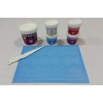 Cake Lace Starter Kit 8  ( Cake Lace Mix or Premix + Spreading Knife + Cake Lace Mats)