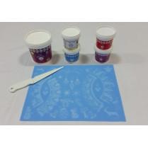 Cake Lace Starter Kit 10 ( Cake Lace Mix or Premix + Spreading Knife + Cake Lace Mats)
