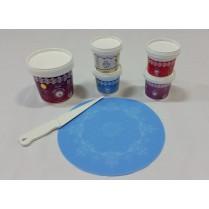 Cake Lace Starter Kit 14 ( Cake Lace Mix or Premix + Spreading Knife + Cake Lace Mats)