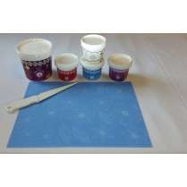 Cake Lace Starter Kit 16  ( Cake Lace Mix or Premix + Spreading Knife + Cake Lace Mats)