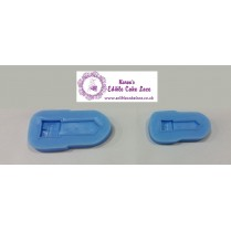 Ladies Hand Bag - Fondant Mold - 2 Buckles Silicon Fondant Molds ( Large and Medium)