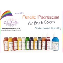 Pearl White | Metallic Edible Colors | Air Brush Cake Decorating |  Ethanol | 20 ML