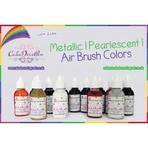 Lemon   Air Brush Colors   Black with Pearlised Gold Luster Gloss 20 ml   Water Based