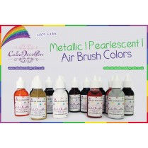 Pear Silver   Air Brush Colors   Black with Pearlised Gold Luster Gloss 20 ml   Water Based
