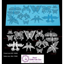 Cake Lace Mat For Cake Decoration  | 3D HD Birds Dragonfly Butterfly Cake Lace Mats