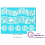 Cake Lace Mat For Cake Decoration - Musical Notes