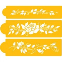 Rose Design - Stencil For Cake & CupCake