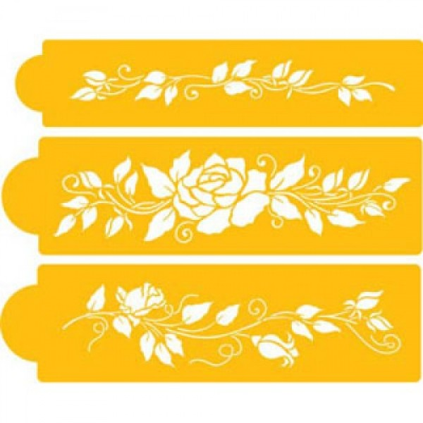 Cake Decorating Stencils Uk : Rose Design - Stencil For Cake & CupCake